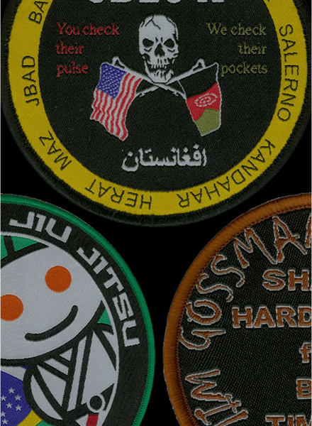 woven patches samples